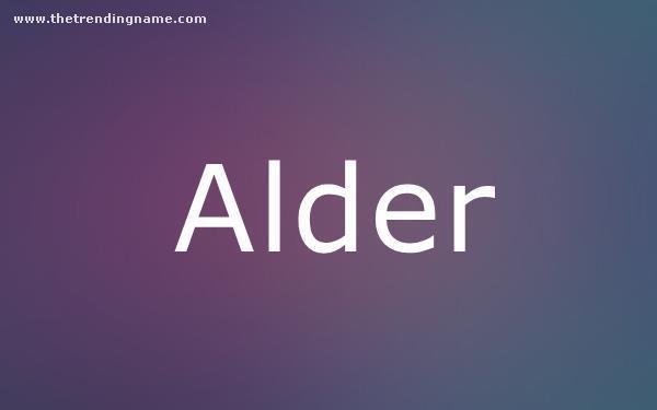 Baby Name Poster For Alder
