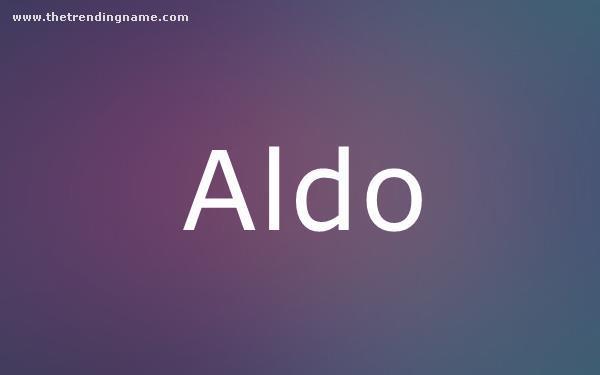 Baby Name Poster For Aldo