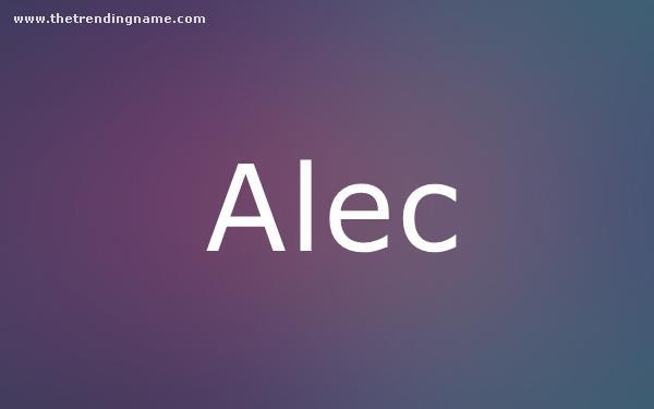 Baby Name Poster For Alec
