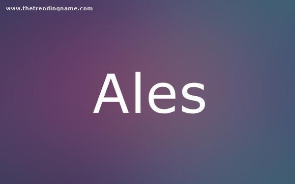Baby Name Poster For Ales