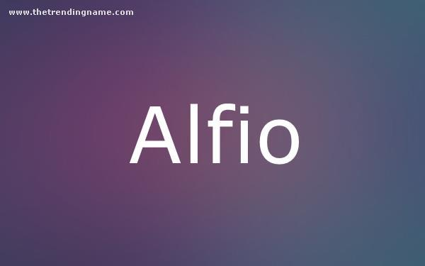 Baby Name Poster For Alfio