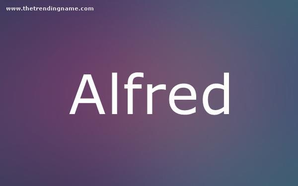 Baby Name Poster For Alfred
