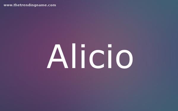 Baby Name Poster For Alicio