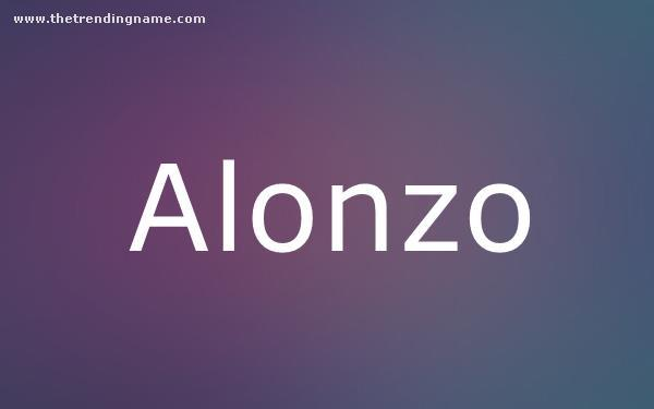 Baby Name Poster For Alonzo