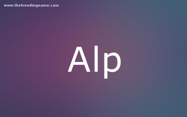Baby Name Poster For Alp