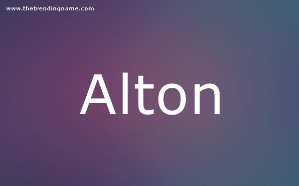 Baby Name Poster For Alton