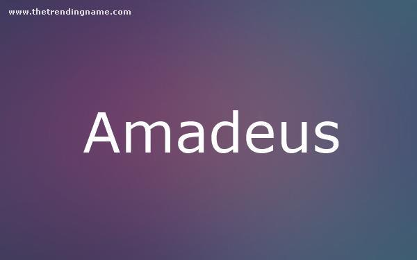 Baby Name Poster For Amadeus