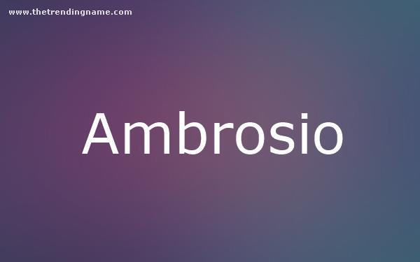 Baby Name Poster For Ambrosio