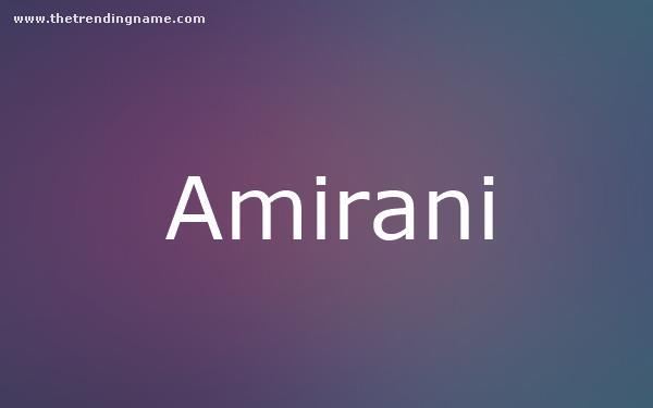 Baby Name Poster For Amirani