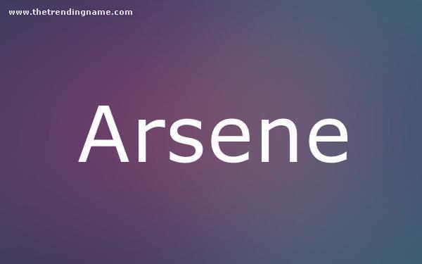 Baby Name Poster For Arsene