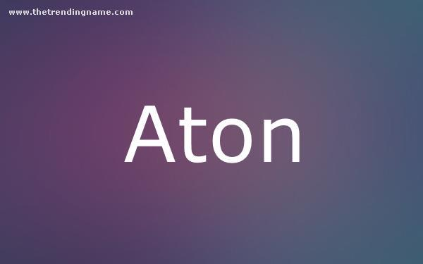 Baby Name Poster For Aton