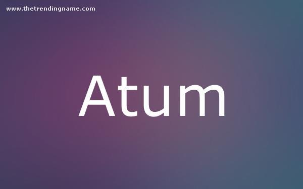 Baby Name Poster For Atum