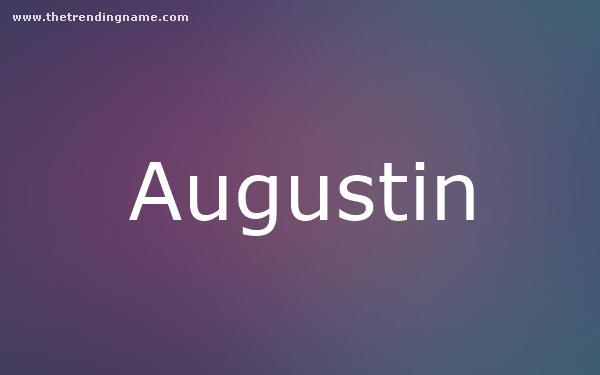 Baby Name Poster For Augustin