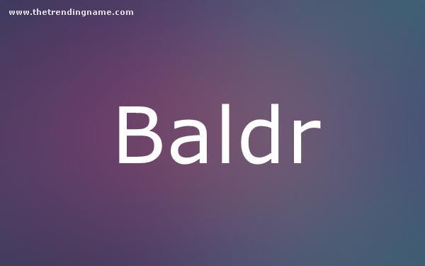 Baby Name Poster For Baldr