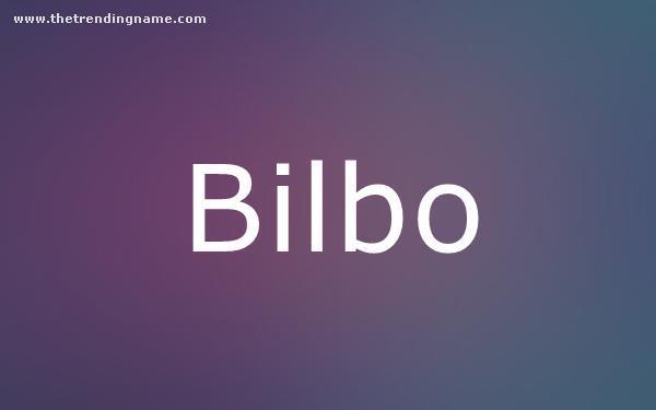 Baby Name Poster For Bilbo