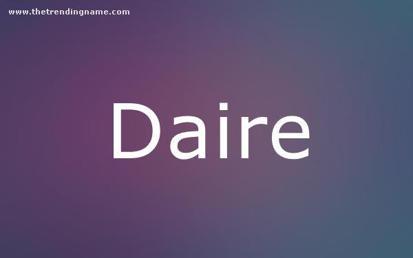 Baby Name Poster For Daire
