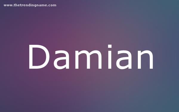 Baby Name Poster For Damian