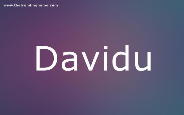 Baby Name Poster For Davidu