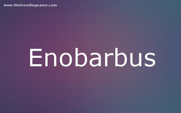 Baby Name Poster For Enobarbus
