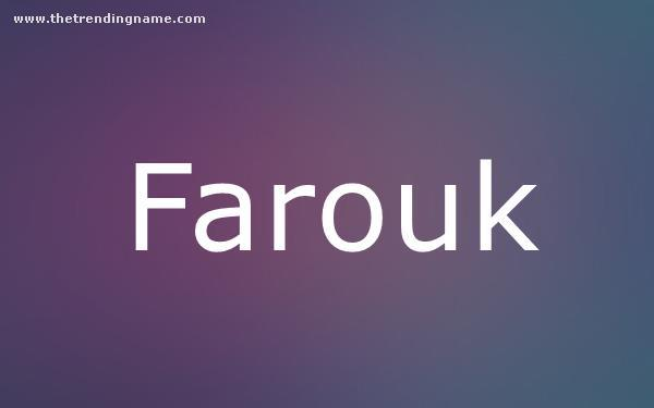 Baby Name Poster For Farouk