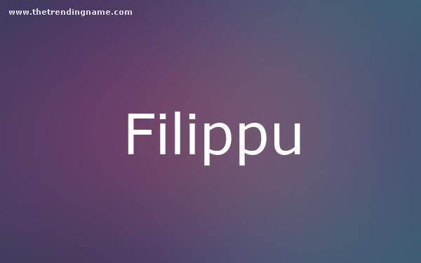 Baby Name Poster For Filippu