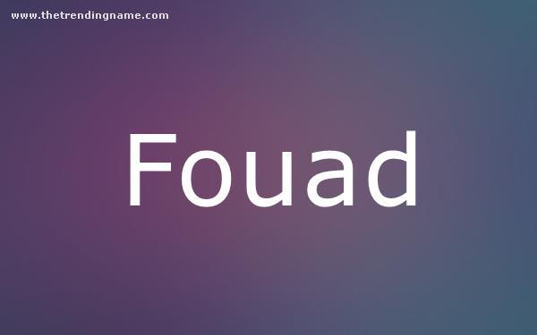 Baby Name Poster For Fouad