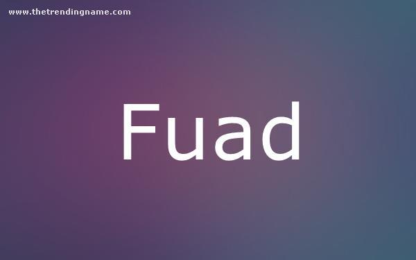 Baby Name Poster For Fuad