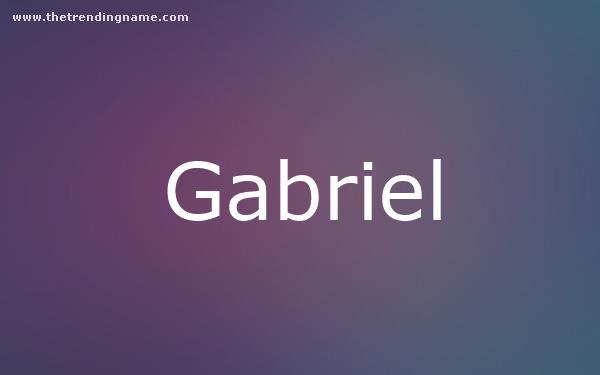 Baby Name Poster For Gabriel