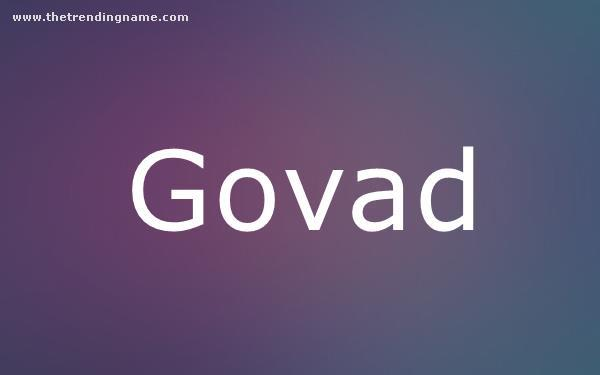 Baby Name Poster For Govad