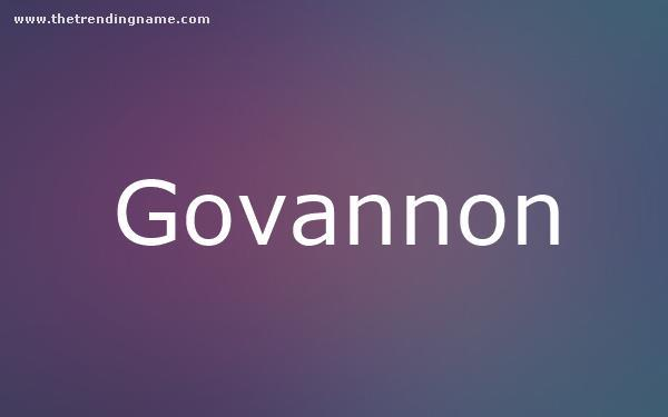 Baby Name Poster For Govannon