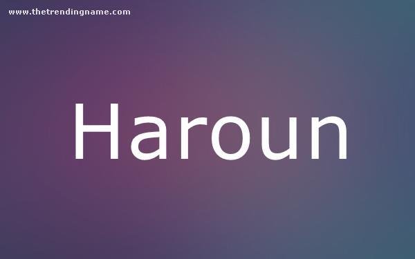 Baby Name Poster For Haroun