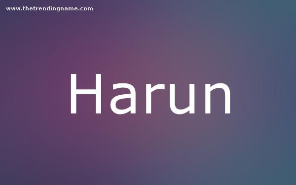 Baby Name Poster For Harun