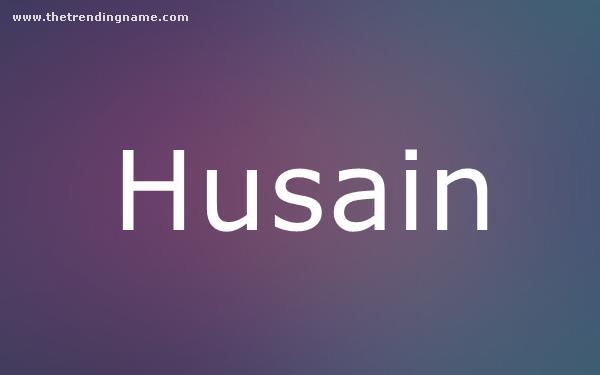 Baby Name Poster For Husain