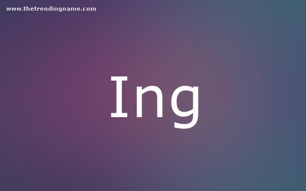 Baby Name Poster For Ing