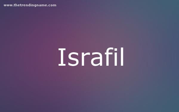 Baby Name Poster For Israfil