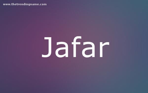 Baby Name Poster For Jafar