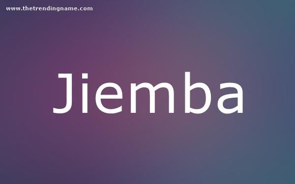 Baby Name Poster For Jiemba