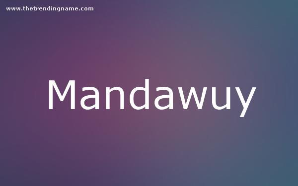Baby Name Poster For Mandawuy