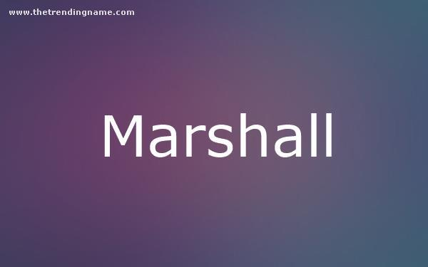 Baby Name Poster For Marshall