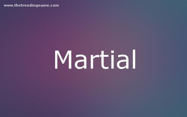 Baby Name Poster For Martial