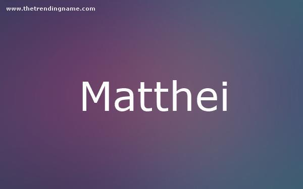 Baby Name Poster For Matthei