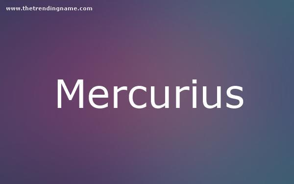 Baby Name Poster For Mercurius