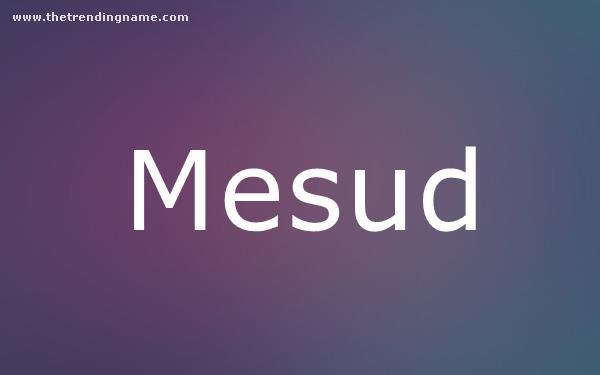 Baby Name Poster For Mesud