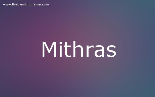 Baby Name Poster For Mithras
