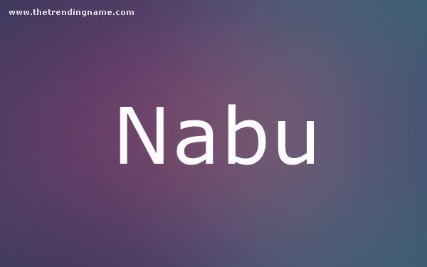 Baby Name Poster For Nabu