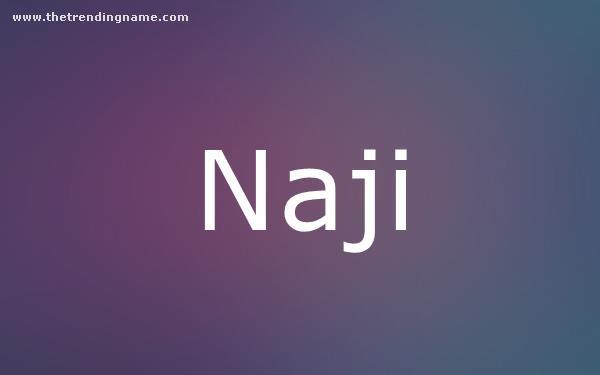 Baby Name Poster For Naji