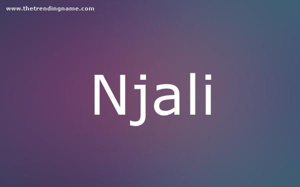 Baby Name Poster For Njali