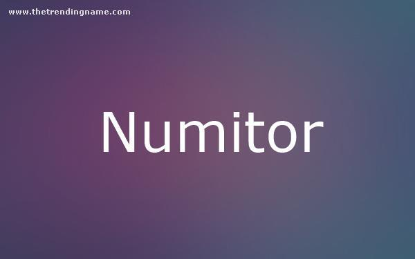 Baby Name Poster For Numitor