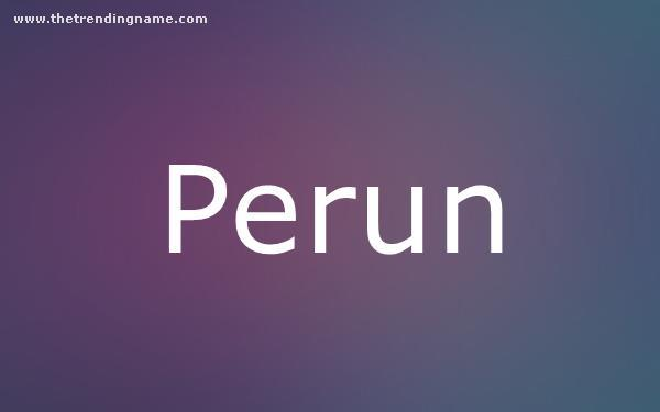 Baby Name Poster For Perun