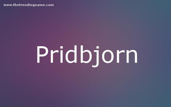 Baby Name Poster For Pridbjorn